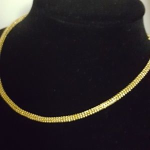 """925 Sterling, 10k plated 18.15g Sz17""""in"""